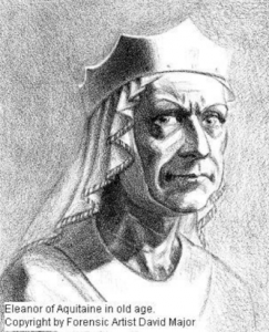 Eleanor in old age -- the age at which she dictated her memoirs. Commissioned for 'Power of a Woman', by forensic artist David Major.