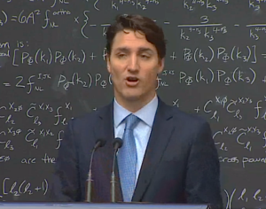 Justin Trudeau gives an impromptu explanation of quantum computing