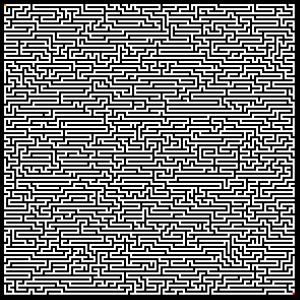 Horizontally Influenced Depth-First Search Generated Maze